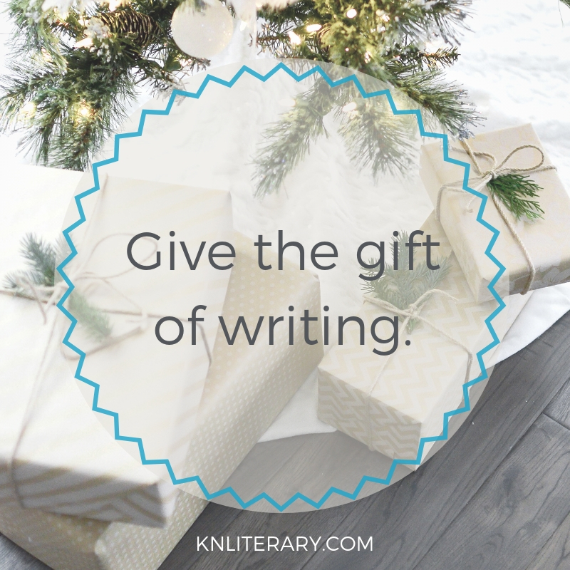 Give the gift of writing.