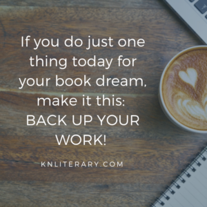 If you do just one thing today for your book dream, make it this BACK UP YOUR WORK!