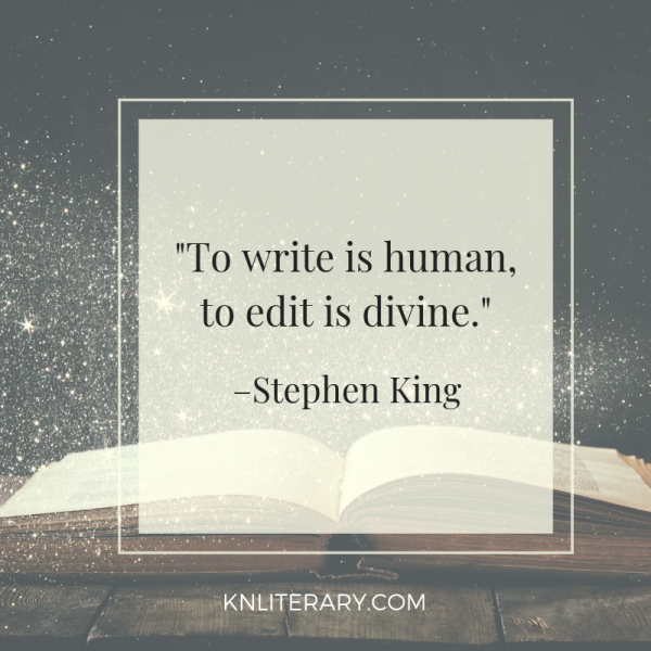 to write is human to edit is divine