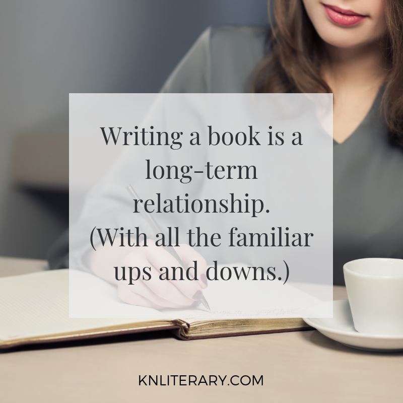 writing a book is a long term relationship