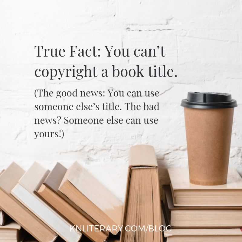 True Fact: You can't copyright a book title.